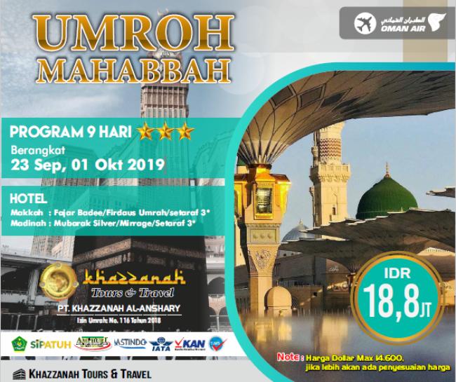 Paket Umroh September 2019