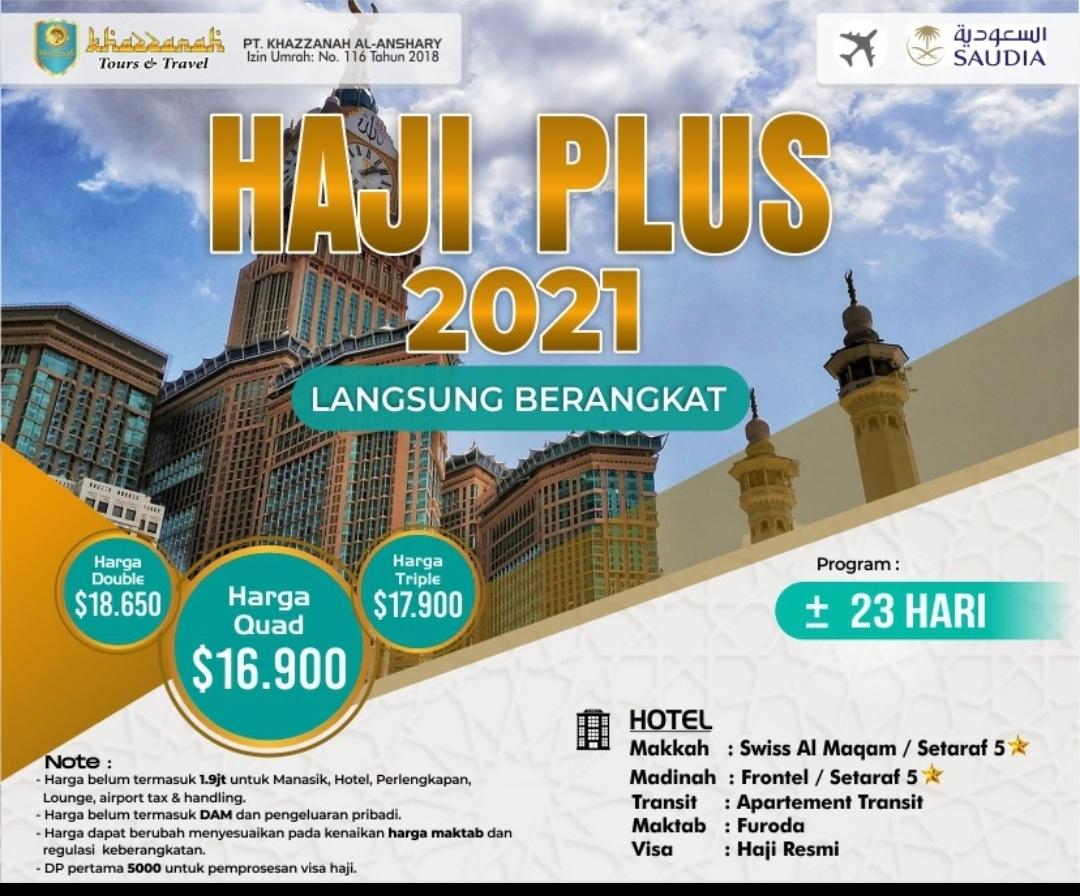Paket Haji ONH Plus 2021 Langsung Berangkat