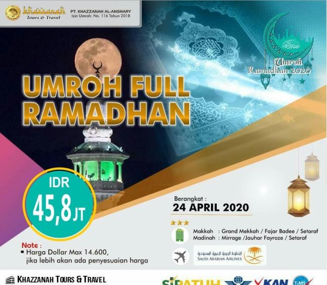 Paket Umroh April 2020 Full Ramadhan